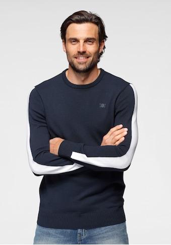 TOM TAILOR Polo Team Rundhalspullover, mit Logostickerei kaufen