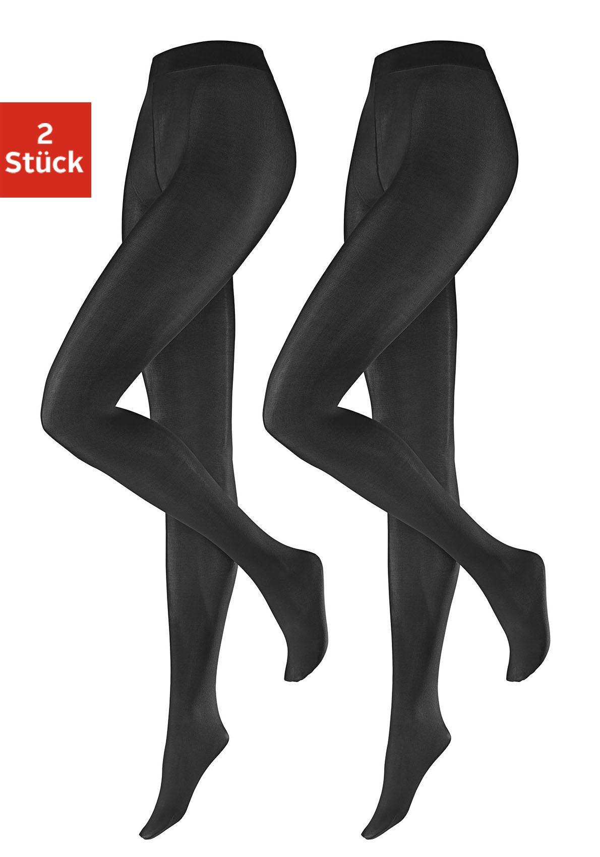 Hudson Feinstrumpfhose, 40 DEN, (2 St.), in DEN mit extrakomfortablem Bund grau Damen Feinstrumpfhosen Strumpfhosen Damenwäsche Feinstrumpfhose
