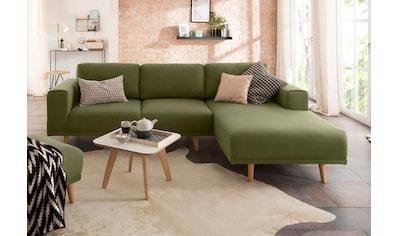Home affaire Ecksofa »Lasse«, im scandinavischen Stil mit Holzfüßen kaufen