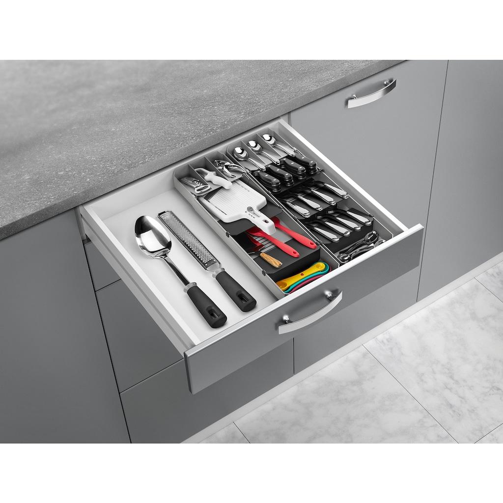 Metaltex Schubladeneinsatz, ausziehbar, für bis zu 90 Besteckteile