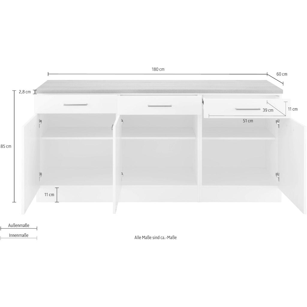 HELD MÖBEL Unterschrank »Visby«, Breite 180 cm