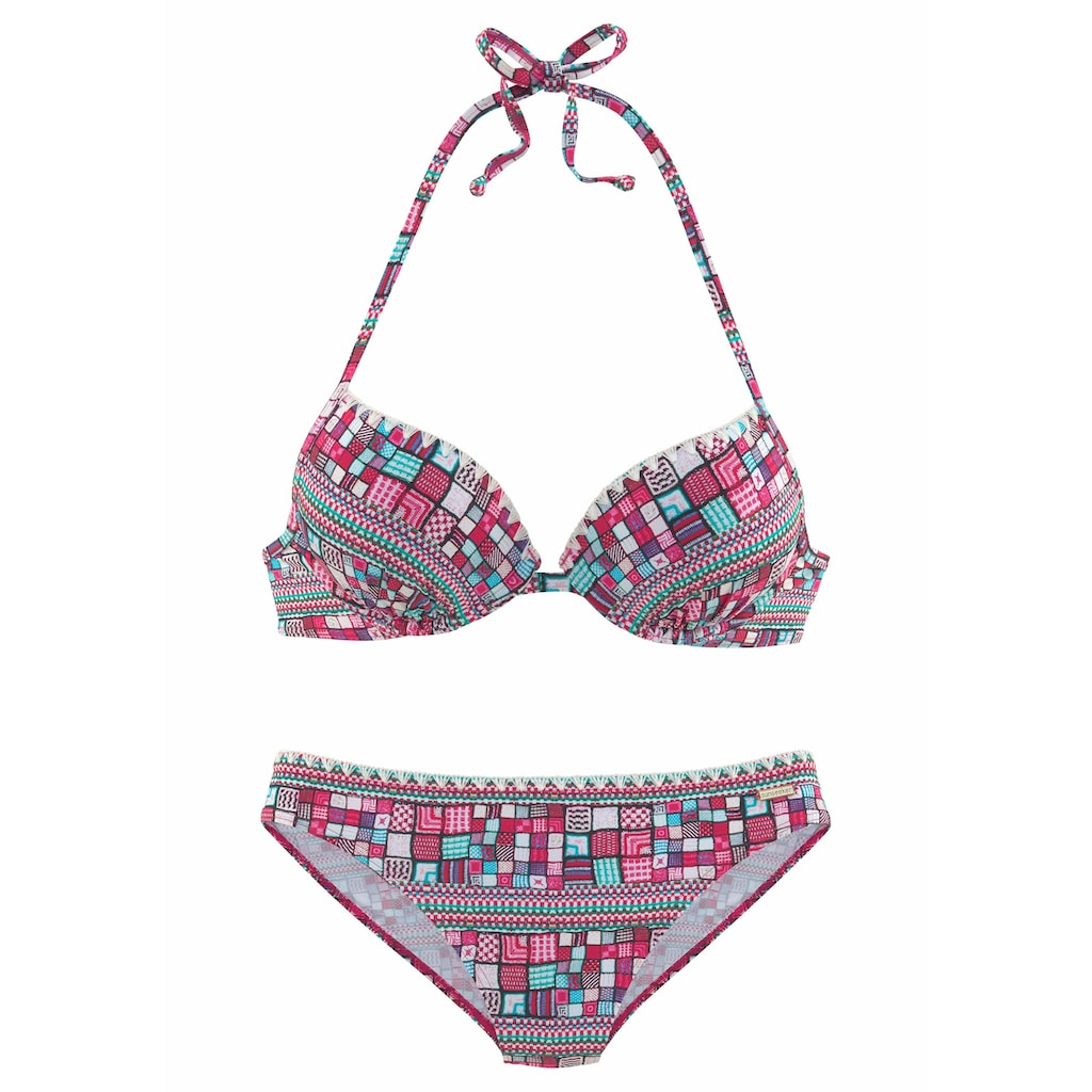 Sunseeker Push-Up-Bikini, mit gerafftem Cup