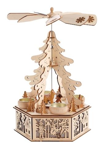 Home affaire Weihnachtspyramide, LED-Beleuchtung im Sockel kaufen