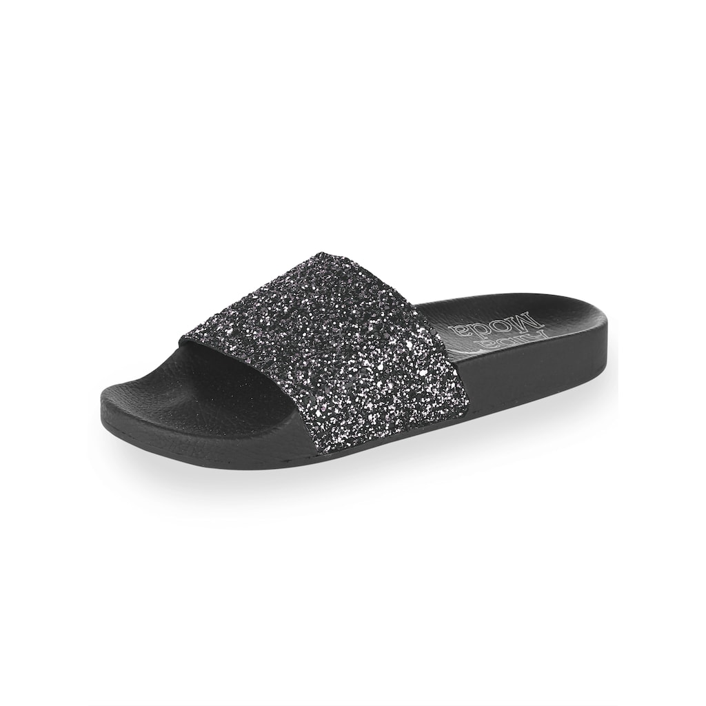 Alba Moda Pantolette, mit Glitter