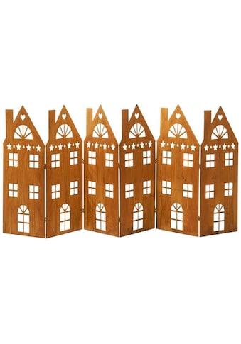 Dekoobjekt »Amsterdam«, Rost-Deko-Häuserreihe, XXL, Metall kaufen