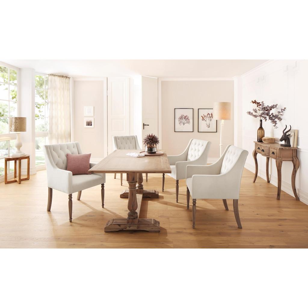 Home affaire 4-Fußstuhl »Tide«, mit schöner Polsterung und massiven Birkenholzbeinen