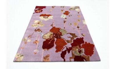 morgenland Wollteppich »Designer Teppich handgetuftet rosa«, rechteckig, 18 mm Höhe kaufen