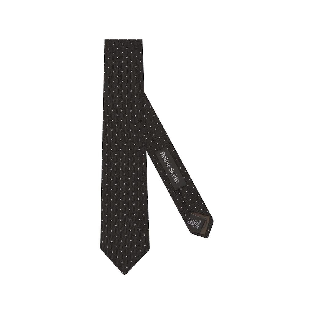 seidensticker Krawatte »Schwarze Rose«, Breit (7cm) Punkte