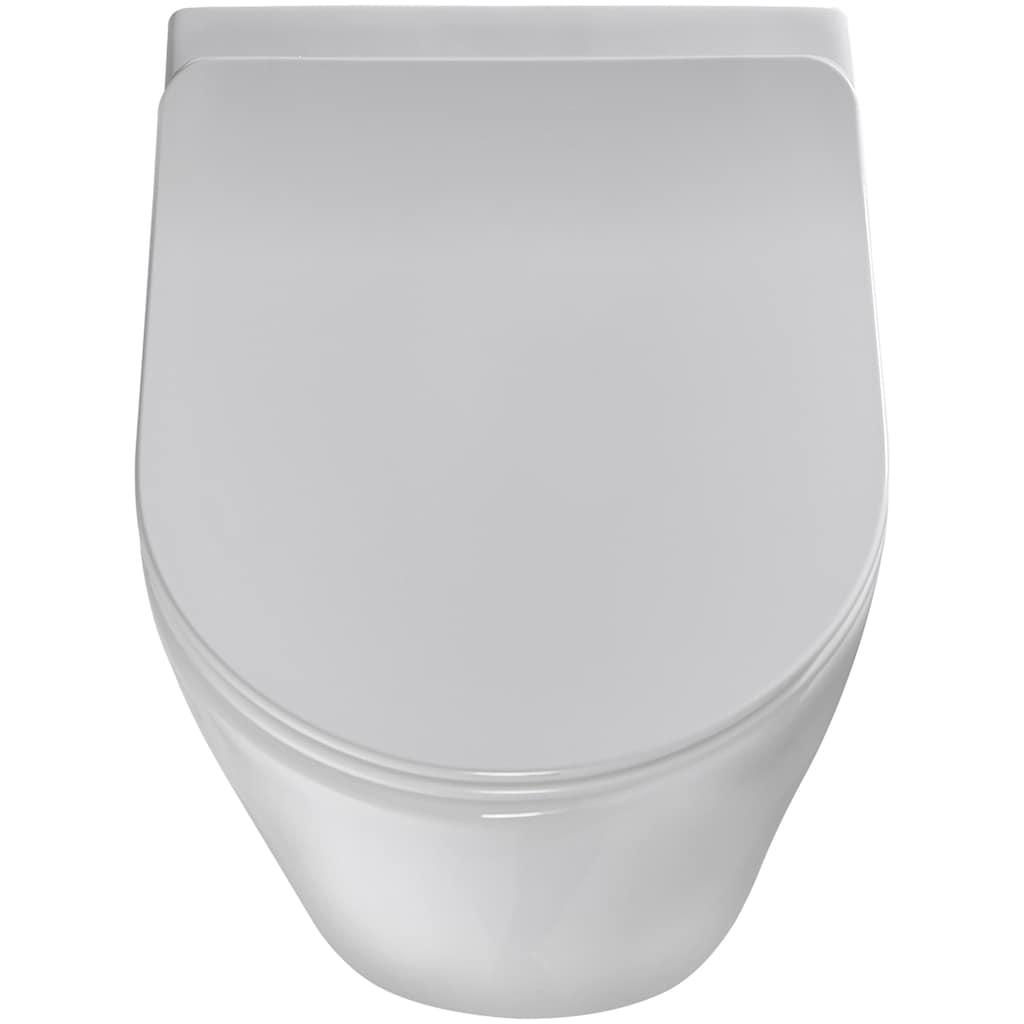 welltime Tiefspül-WC »Vigo«, Toilette spülrandlos, inkl. WC-Sitz mit Softclose