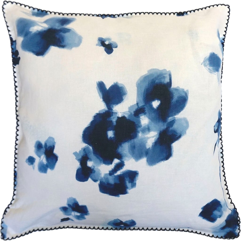 fleuresse Kissenbezug »Provence Cassis«, (2 St.), Aquarellblüten