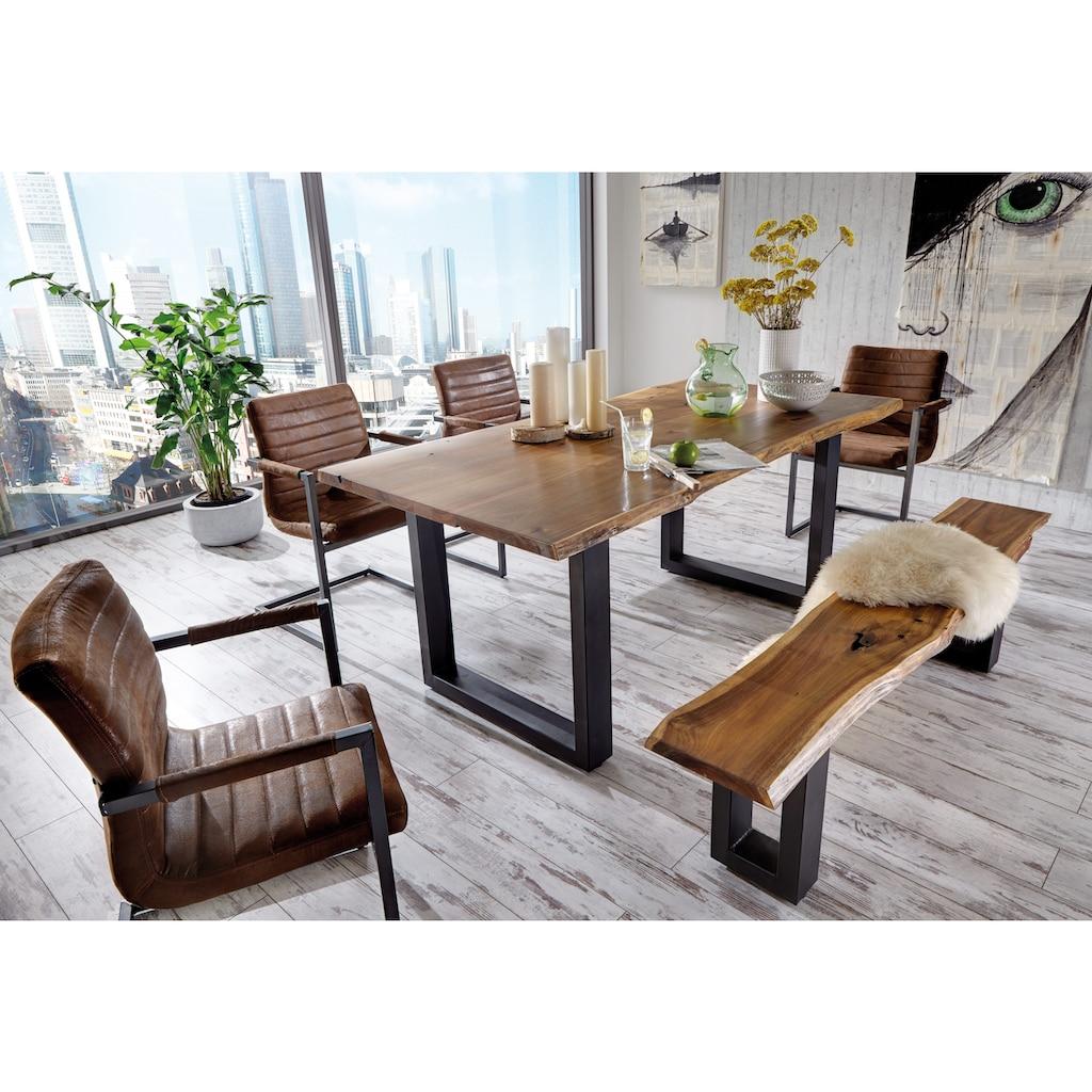 Premium collection by Home affaire Esstisch »Queens«, Akazie natur, mit Baumkante