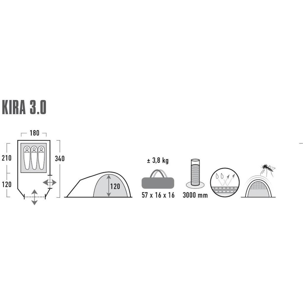High Peak Kuppelzelt »Zelt Kira 3.0«, 3 Personen, (mit Transporttasche)