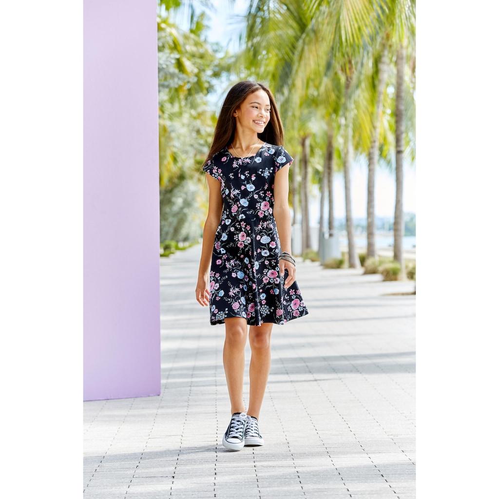 KIDSWORLD Jerseykleid, geblümt, Skaterform