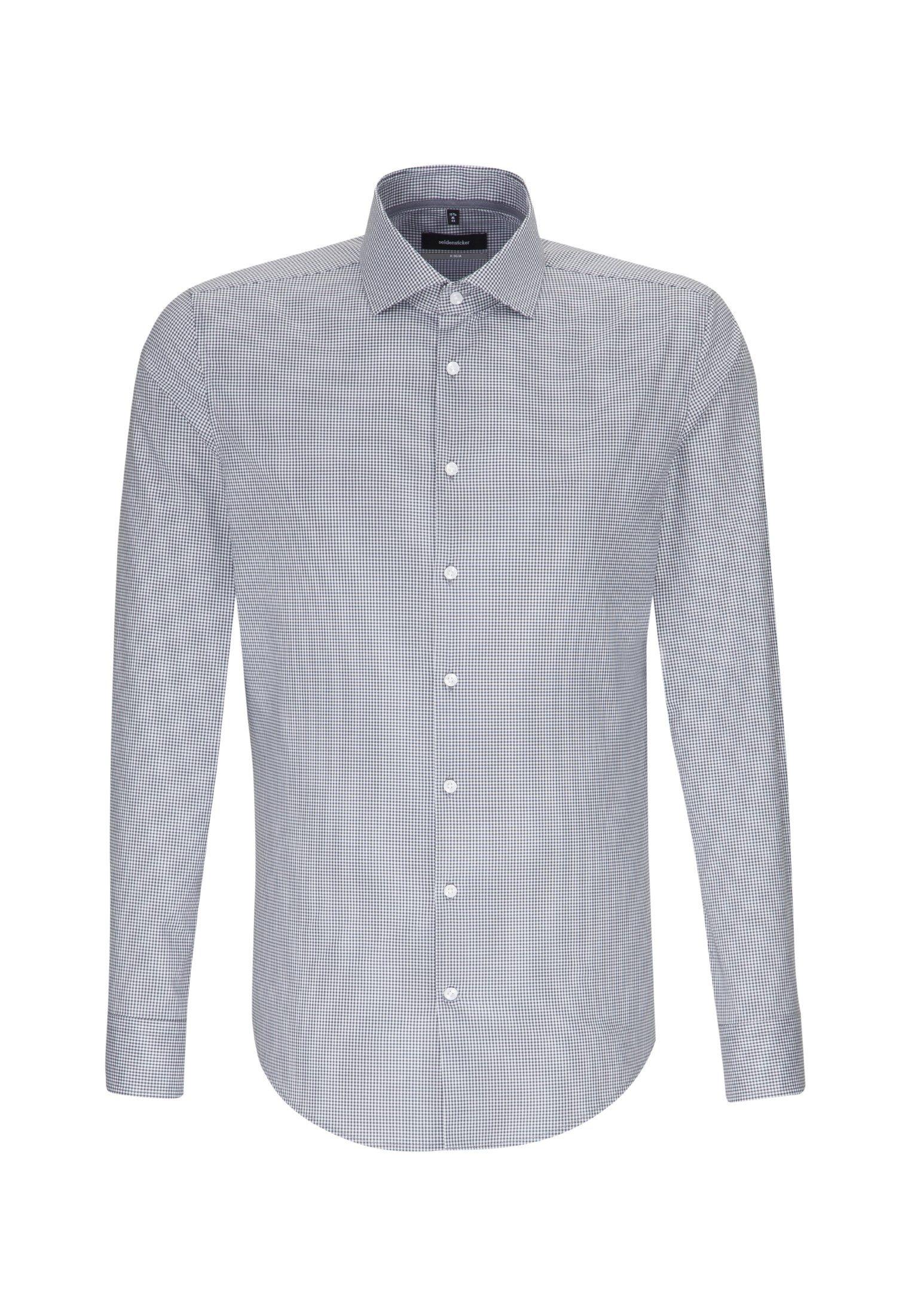 seidensticker Businesshemd X-Slim | Bekleidung > Hemden > Business Hemden | Grau | Baumwolle - Popeline | Seidensticker