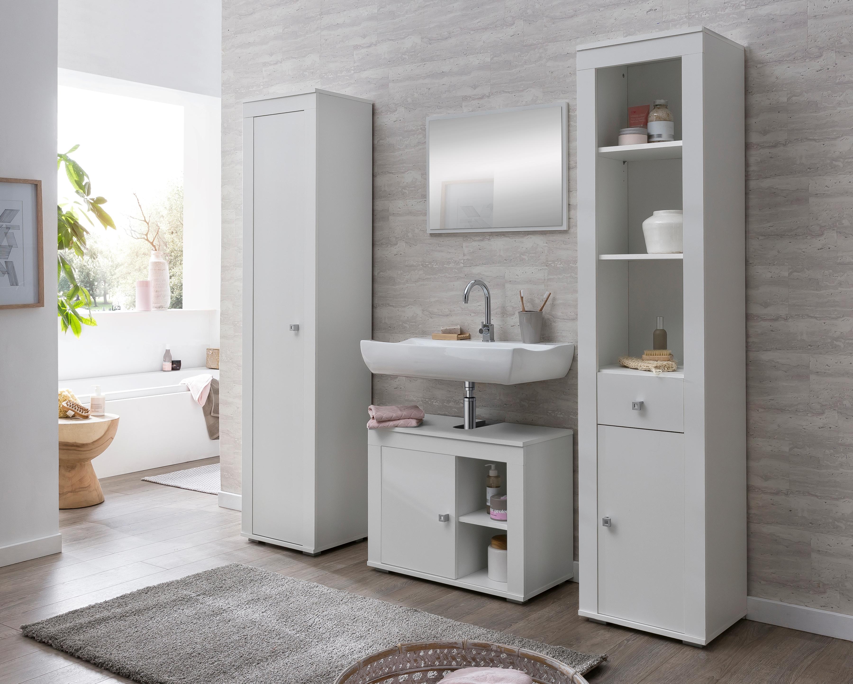 WILMES Set: Badezimmer-Set RÜGEN 4-tlg mit pflegeleichter Oberfläche