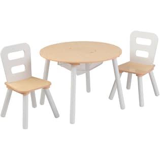 KidKraft® Kindertisch mit Staufach und 2 Stühlen, »Runder ...