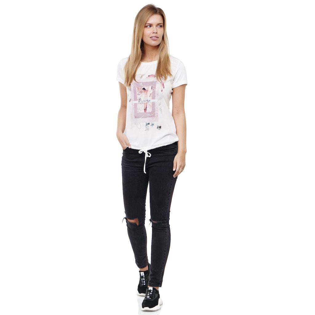 Decay T-Shirt, mit schickem Print-Perlen-Motiv