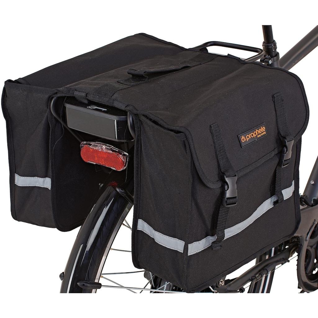 Prophete E-Bike »Entdecker e900«, 24 Gang, Shimano, Acera, Heckmotor 250 W, (Set, 3 tlg., mit Fahrradtaschen)