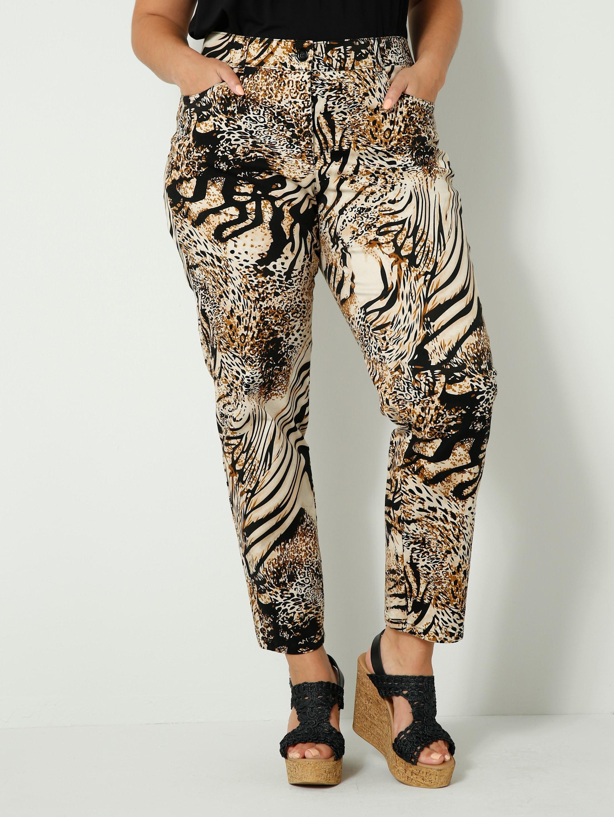 sara lindholm by happysize -  Stoffhose, mit angesagtem Animal Print