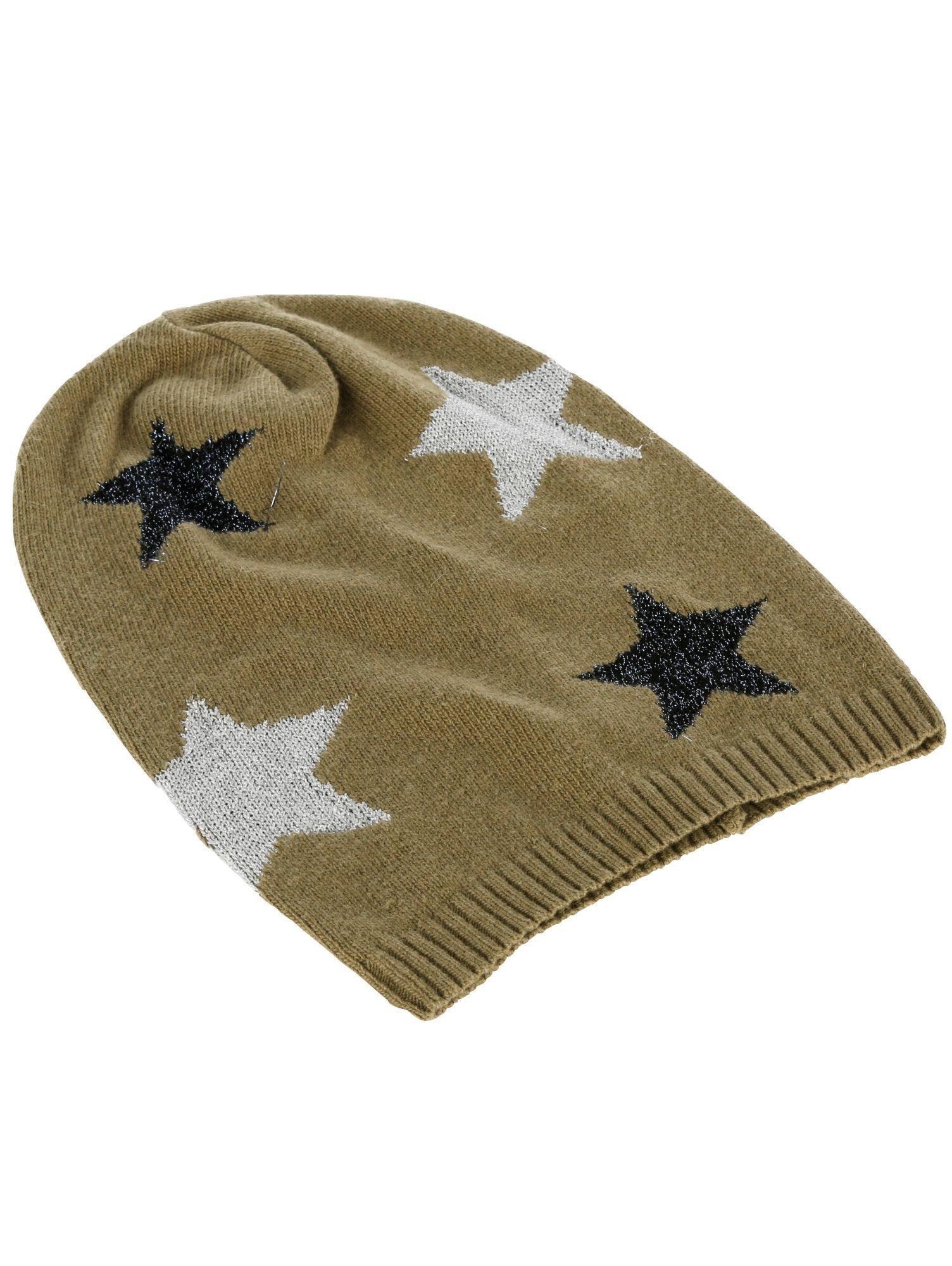 Alba Moda Strickmütze mit Lurex-Sternen   Accessoires > Mützen > Strickmützen   Alba Moda