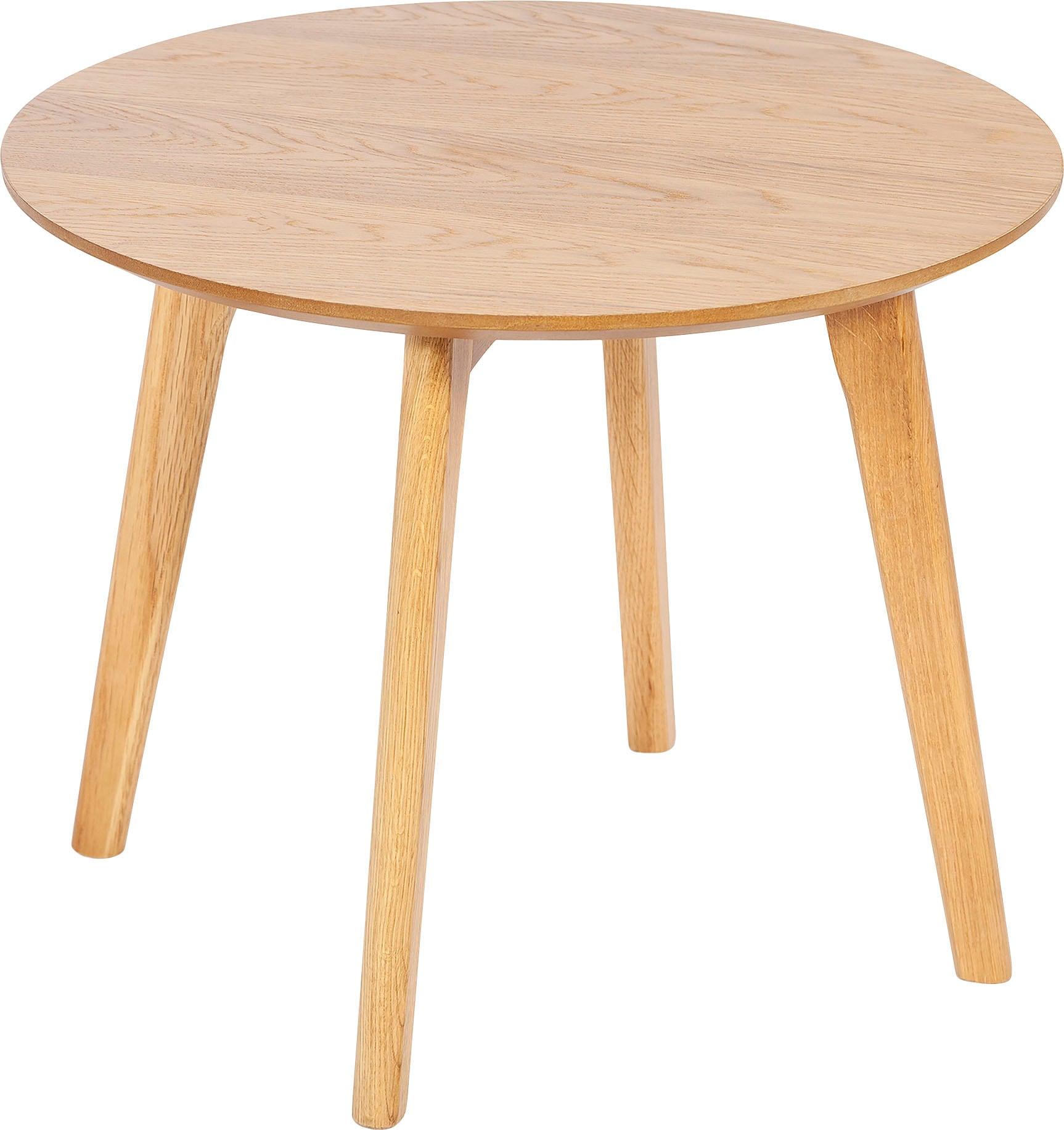 Homexperts Beistelltisch Lina, D 50 cm, rund, aus Massivholz Eiche beige Beistelltische Tische