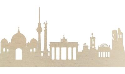 Wanddekoobjekt »Pappel Furnier  -  Skyline Berlin« kaufen