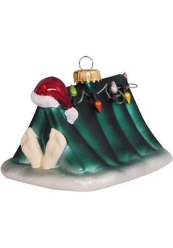 """Krebs Glas Lauscha Christbaumschmuck """"Weihnachtsmann im Zelt mit Lichterkette"""" (1 - teilig) kaufen"""
