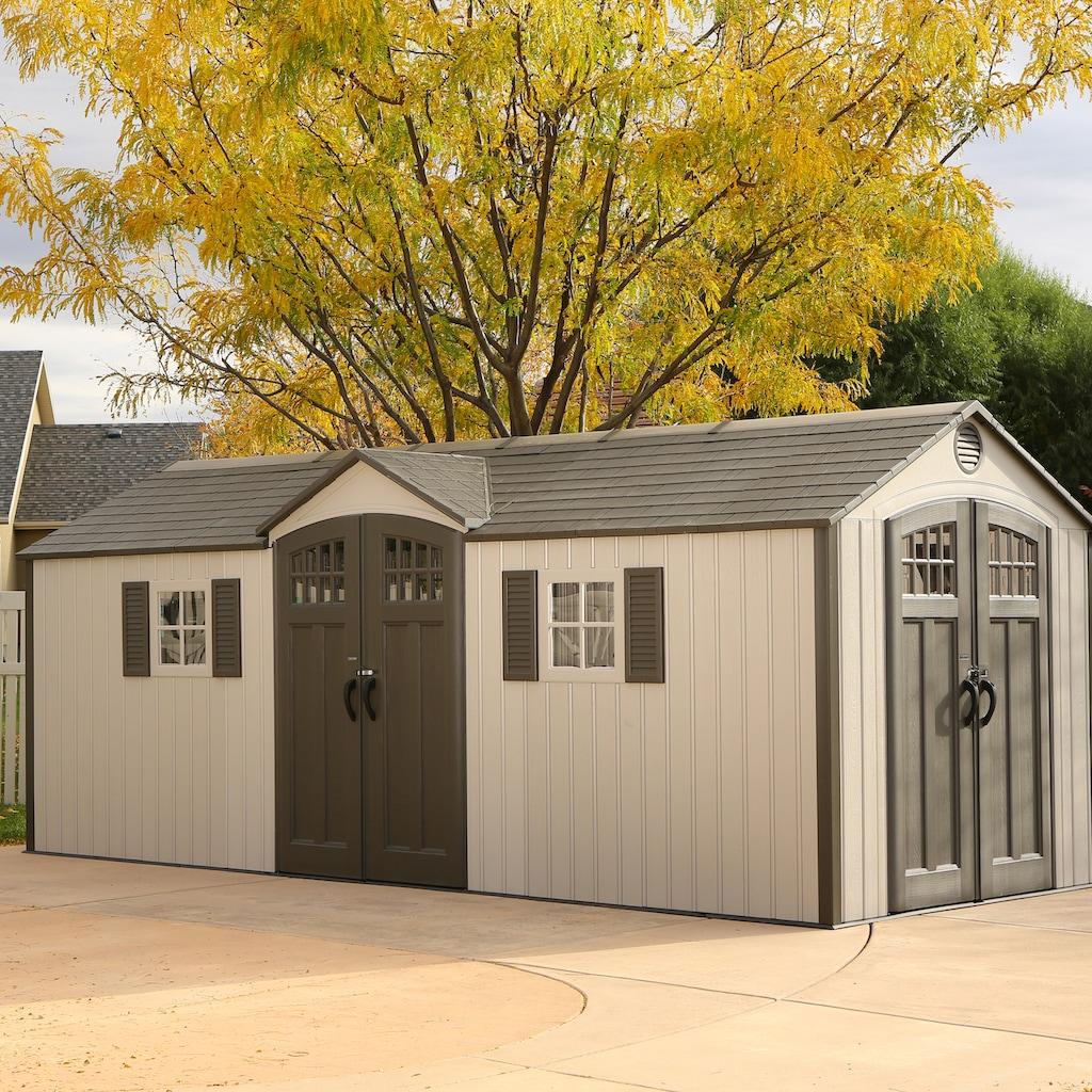 Lifetime Gerätehaus »Makro«, inkl. Fußboden, Regale und Werkzeugtasche