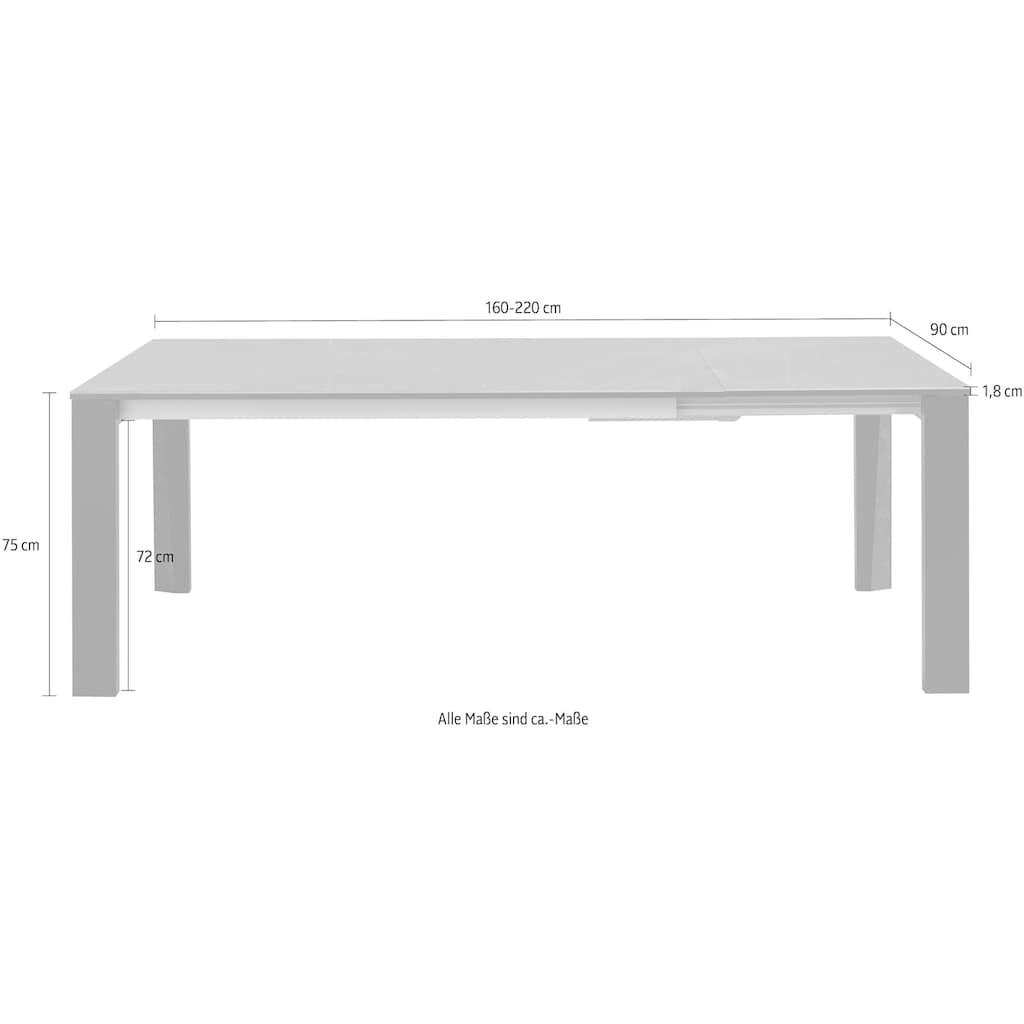 Places of Style Esstisch »Arbok«, mit praktischer Auszugsfunktion, ausziehbar auf 220 cm