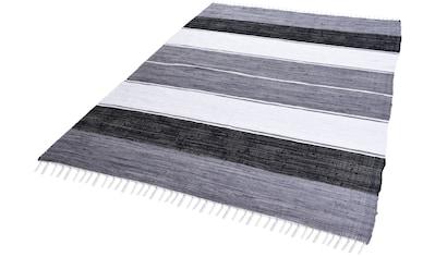 Teppich, »Stripe Cotton«, THEKO, rechteckig, Höhe 5 mm, handgewebt kaufen