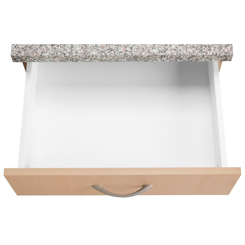 wiho Küchen Küchenblock »Kiel«, ohne E-Geräte, Breite 190 cm, Tiefe 60 cm