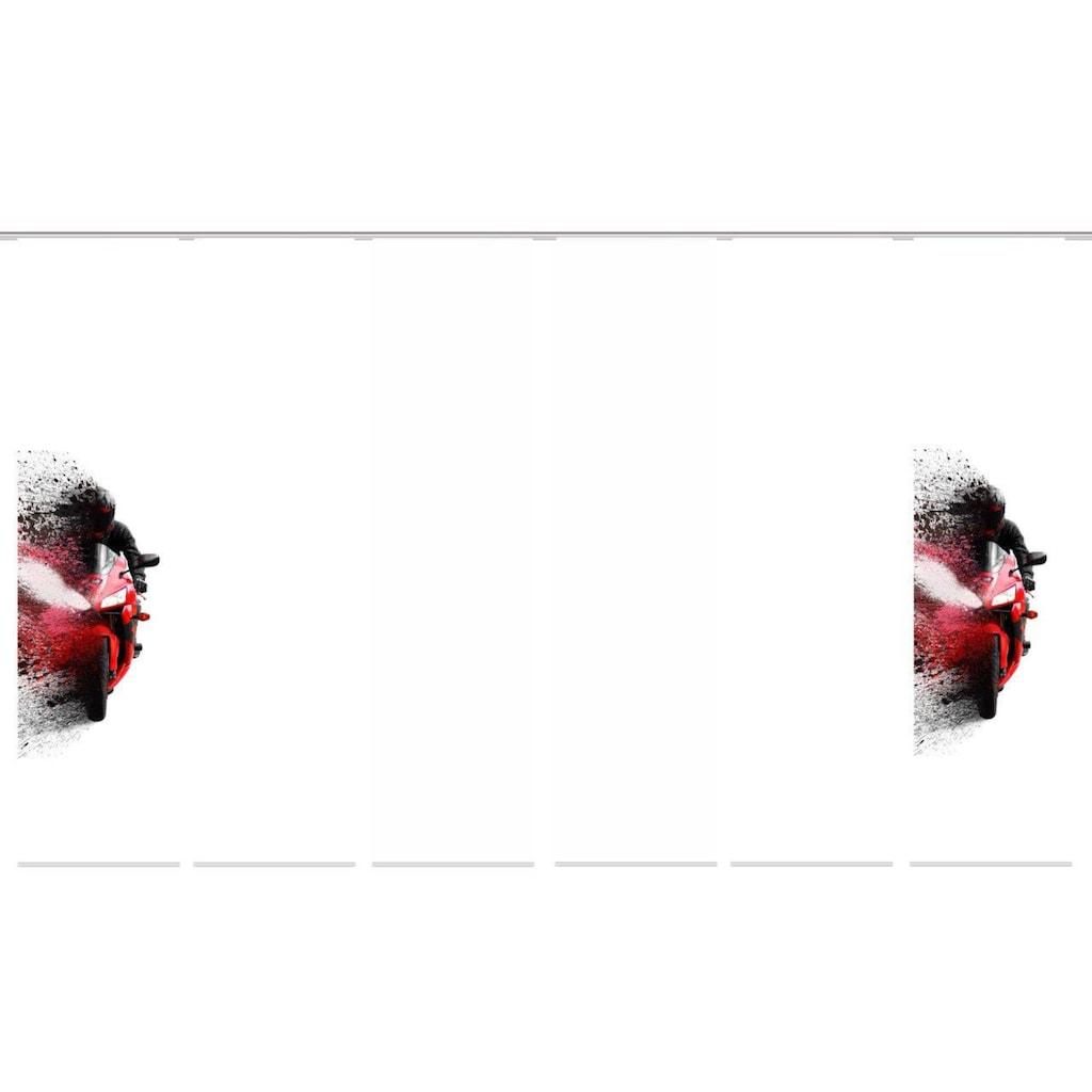 HOME WOHNIDEEN Schiebegardine »AKIDO 6er SET«, Dekostoff-Seidenoptik, Digital bedruckt