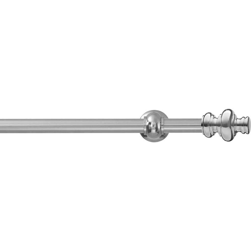 GARESA Gardinenstange »Andrea Profil groß«, 1 läufig-läufig, Wunschmaßlänge, inkl. je 10 cm einen Ring + FH, Träger, Endknöpfe