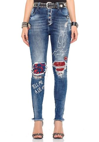 Cipo & Baxx Slim-fit-Jeans, mit passendem Gürtel kaufen