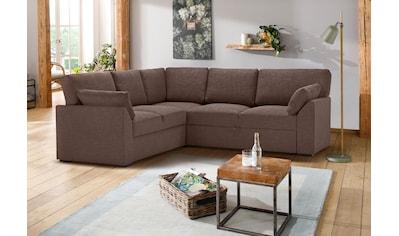 Premium collection by Home affaire Ecksofa »Garda«, Bettfunktion und Bettkasten kaufen