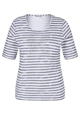 Rabe T - Shirt mit Allover - Ringeln und Ziersteinchen kaufen