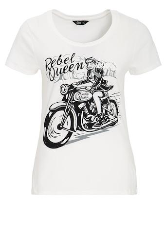 QueenKerosin Print-Shirt »Rebel Queen«, mit lässigem Biker-Druck kaufen