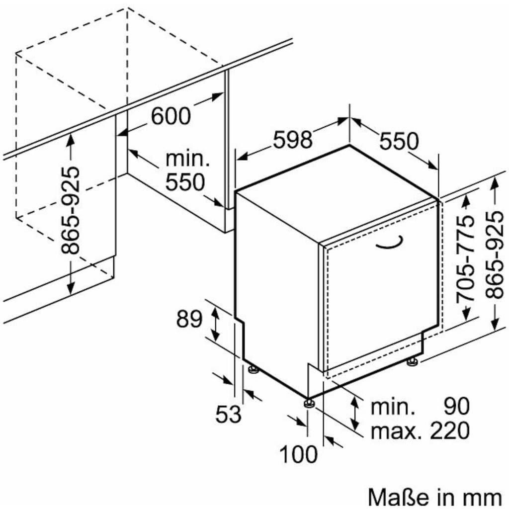 Constructa vollintegrierbarer Geschirrspüler »CG4B05V9«, CG4B05V9, 12 Maßgedecke