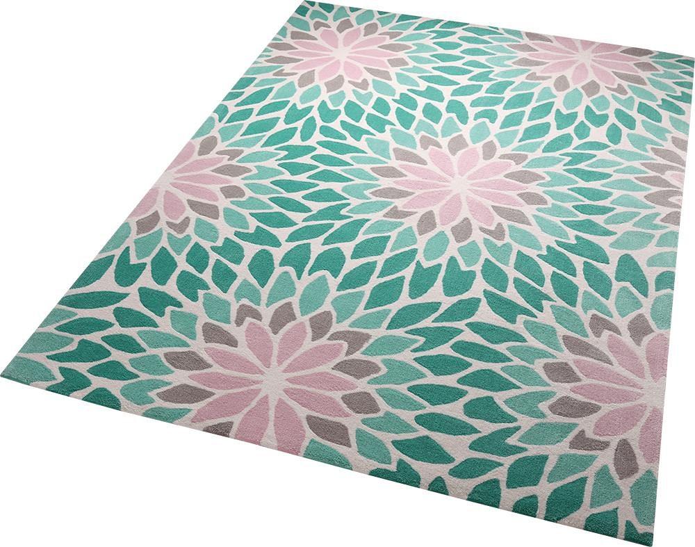 teppich lotus esprit rechteckig h he 10 mm handgetuftet kaufen baur. Black Bedroom Furniture Sets. Home Design Ideas