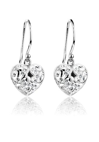 Nenalina Paar Ohrhänger »Herz Ohrhänger Swarovski® Kristalle 925 Silber« kaufen