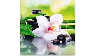 Artland Glasbild »Spa Steine Bambus Zweige Orchidee«, Zen, (1 St.) kaufen