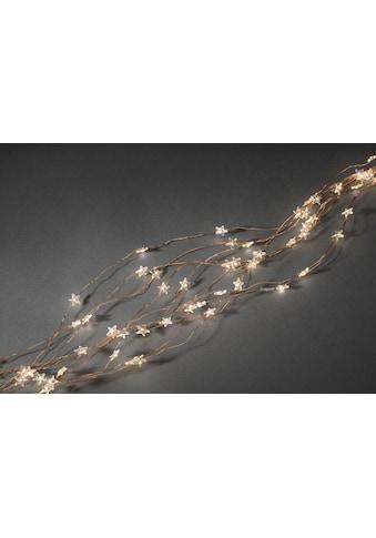 KONSTSMIDE LED-Lichtervorhang, 200 St.-flammig, LED Sternenlametta, 10 Stränge à 20... kaufen