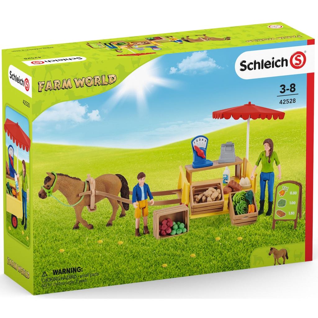 Schleich® Spielwelt »Farm World, Mobiler Farm Stand (42528)«
