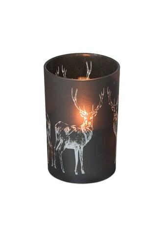 EDZARD Windlicht »Hirsch«, Kerzenglas mit Hirsch-Motiv in Gold-Optik, Teelichtglas im... kaufen