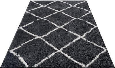 my home Hochflor-Teppich »Cooper«, rechteckig, 30 mm Höhe, Wohnzimmer kaufen