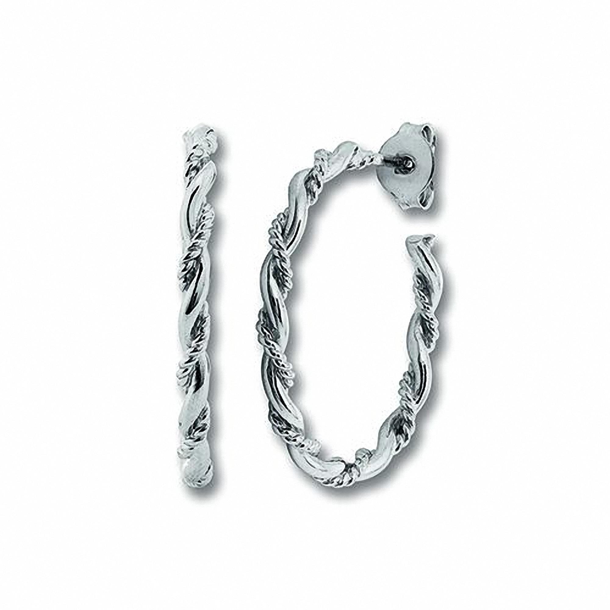 one element -  Paar Ohrhänger Orhringe / Creolen aus 925 Silber