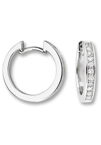 ONE ELEMENT Paar Creolen »Orhringe / Creolen aus 585 Weißgold mit 0,27 ct Diamant« kaufen