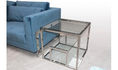 Leonique Couchtisch »Fabi«, Mit pflegeleichter Glasplatte kaufen