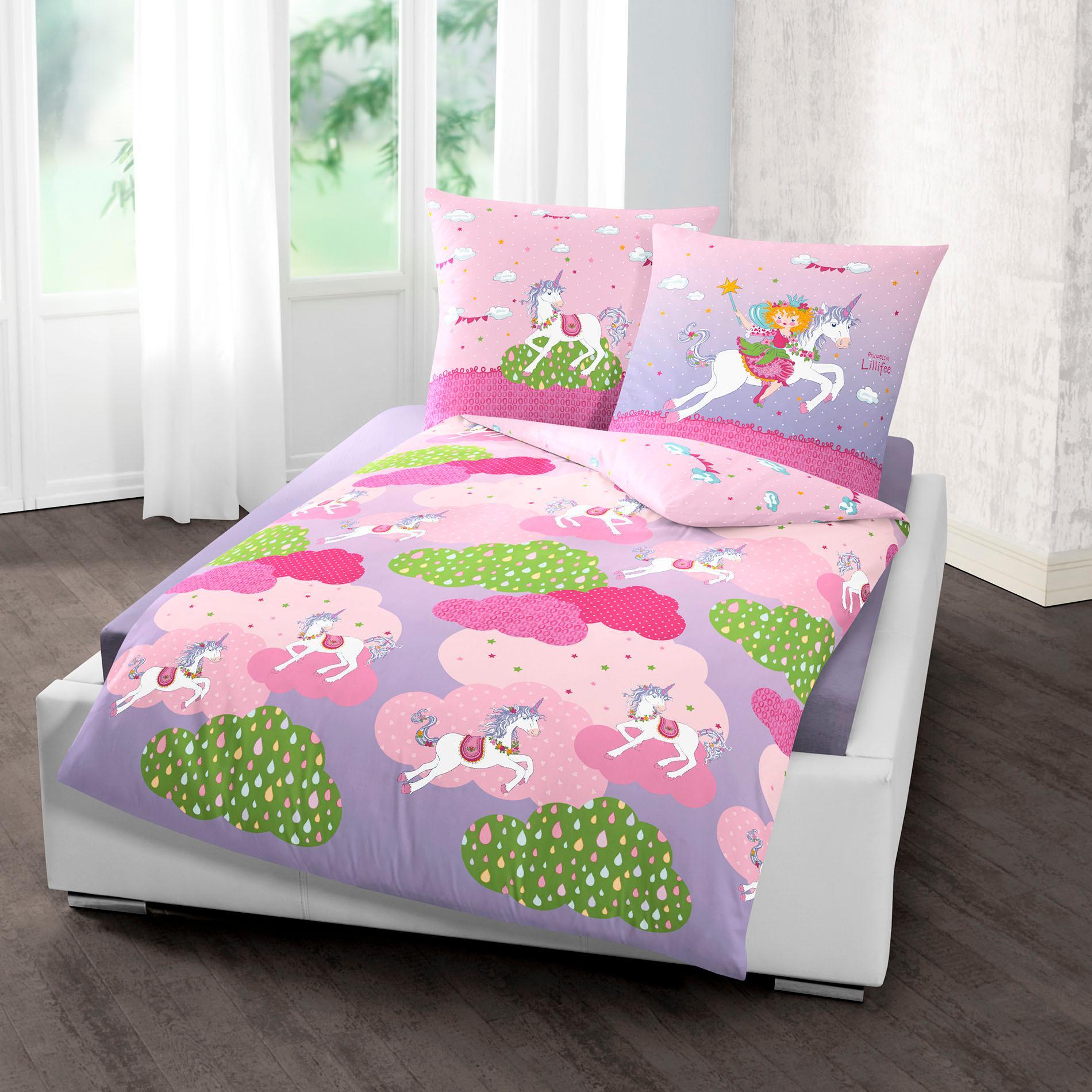Kinderbettwäsche Einhorn Prinzessin Lillifee