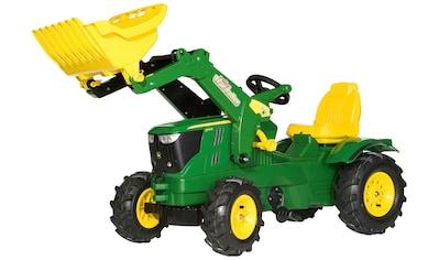Rolly Toys Tretfahrzeug »John Deere 6210R«, Kindertraktor mit Lader und Luftbereifung kaufen